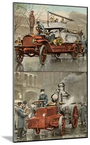 Early Fire Equipment--Mounted Art Print