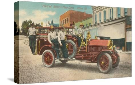 Fire Equipment, Alton, Illinois--Stretched Canvas Print