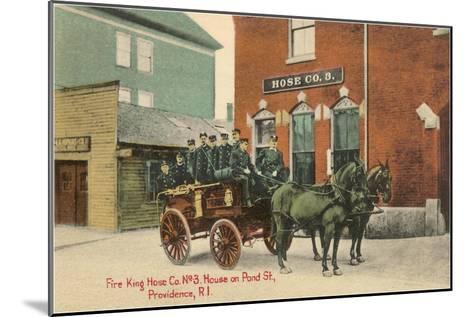 Early Fire Equipment, Providence, Rhode Island--Mounted Art Print