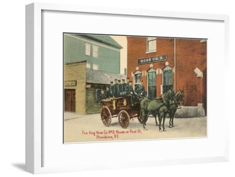Early Fire Equipment, Providence, Rhode Island--Framed Art Print