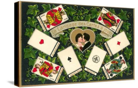 French Language of Playing Cards--Stretched Canvas Print