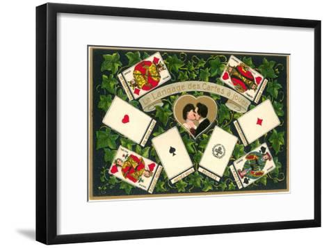 French Language of Playing Cards--Framed Art Print