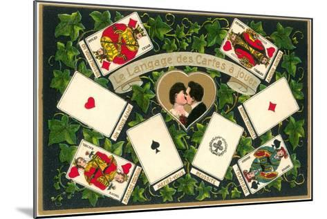 French Language of Playing Cards--Mounted Art Print