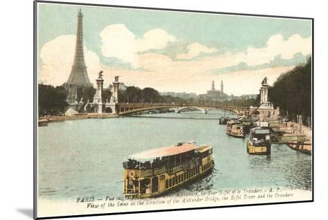 Seine, Eiffel Tower, Paris, France--Mounted Art Print