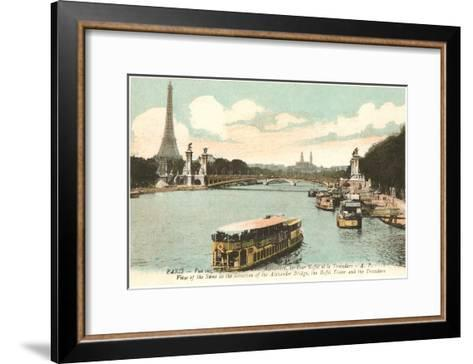Seine, Eiffel Tower, Paris, France--Framed Art Print