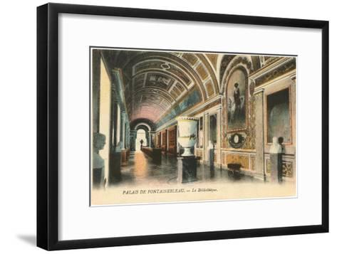 Library, Fontainbleau, France--Framed Art Print