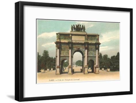Arc de Triomphe, Paris, France--Framed Art Print