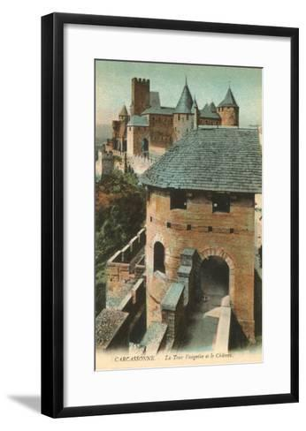 Visigoth Tower, Carcassonne, France--Framed Art Print