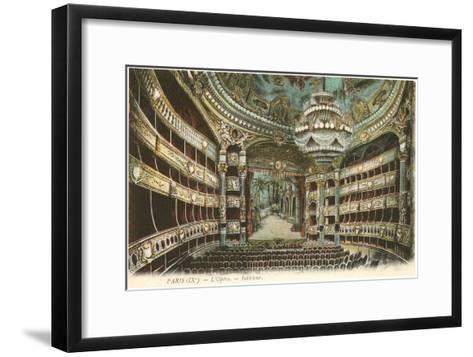 Interior, Opera House,Paris, France--Framed Art Print