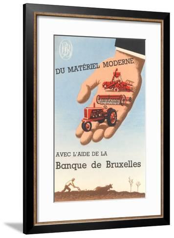 Bank of Brussels--Framed Art Print
