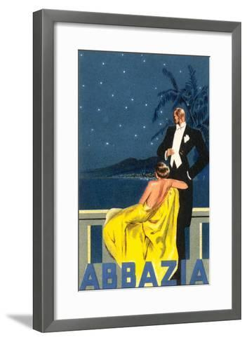 Abbazia, Sophisticated Couple--Framed Art Print