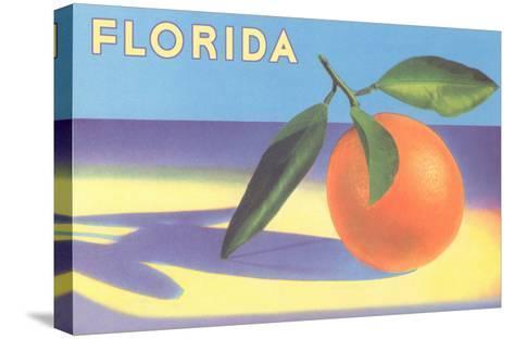 Florida Orange--Stretched Canvas Print