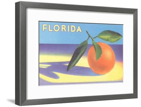 Florida Orange--Framed Art Print