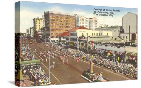 Parade, St. Petersburg, Florida--Stretched Canvas Print