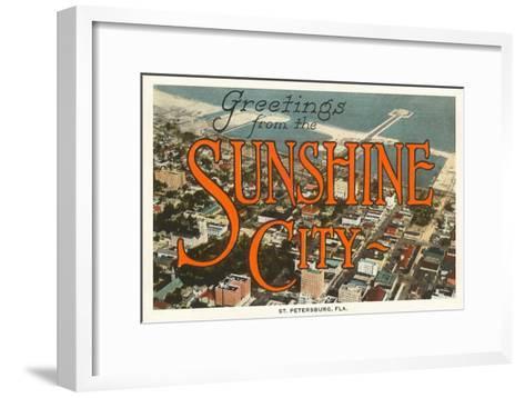 Greetings from Sunshine City, St. Petersburg, Florida--Framed Art Print