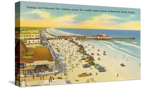 Beach, Pier, Jacksonville, Florida--Stretched Canvas Print