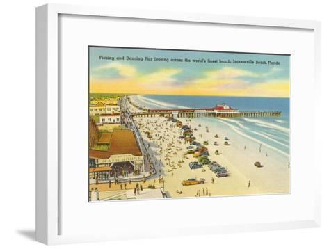 Beach, Pier, Jacksonville, Florida--Framed Art Print