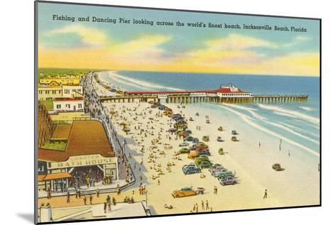 Beach, Pier, Jacksonville, Florida--Mounted Art Print