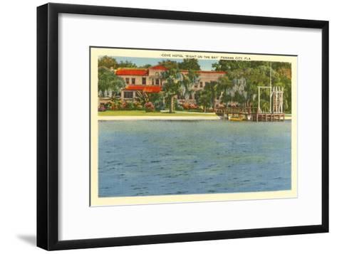 Cove Hotel, Panama City, Florida--Framed Art Print