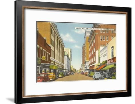 Orange Avenue, Orlando, Florida--Framed Art Print