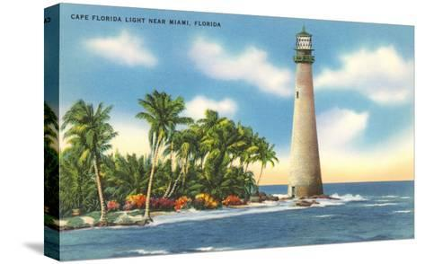 Cape Florida Lighthouse, Miami, Florida--Stretched Canvas Print