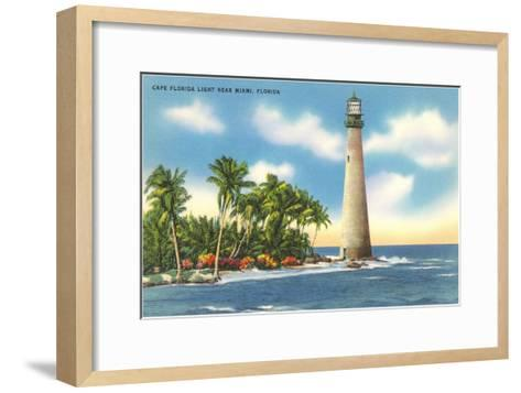 Cape Florida Lighthouse, Miami, Florida--Framed Art Print