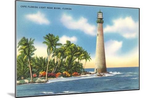 Cape Florida Lighthouse, Miami, Florida--Mounted Art Print