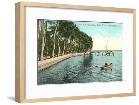 Palms on Lake Worth, Palm Beach, Florida--Framed Art Print