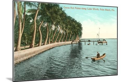 Palms on Lake Worth, Palm Beach, Florida--Mounted Art Print