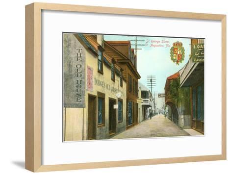 St. George Street, St. Augustine, Florida--Framed Art Print