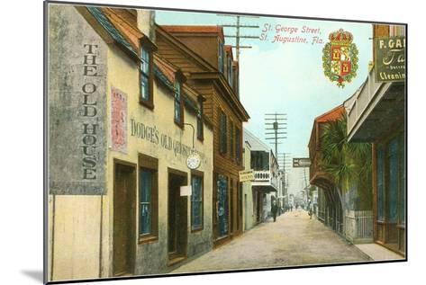 St. George Street, St. Augustine, Florida--Mounted Art Print
