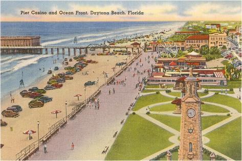 Pier, Casino, Daytona Beach, Florida--Stretched Canvas Print