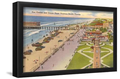 Pier, Casino, Daytona Beach, Florida--Framed Art Print