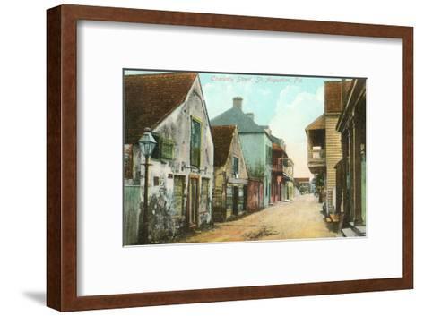 Charlotte Street, St. Augustine, Florida--Framed Art Print