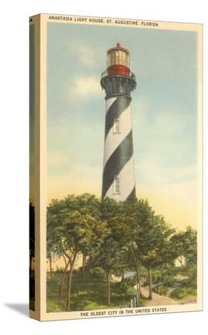 Anastasia Lighthouse, St. Augustine, Florida--Stretched Canvas Print