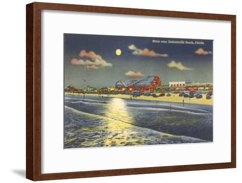 Moon over Jacksonville, Florida--Framed Art Print