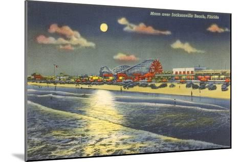 Moon over Jacksonville, Florida--Mounted Art Print
