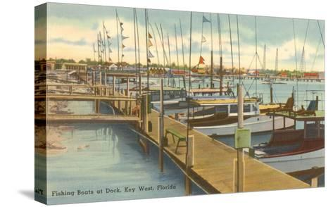 Dock, Key West, Florida--Stretched Canvas Print