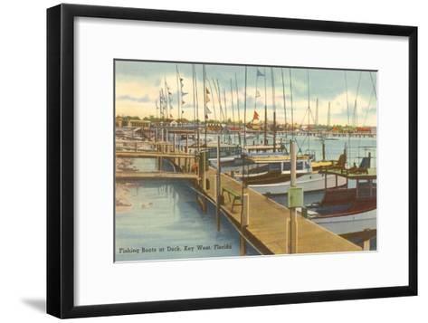 Dock, Key West, Florida--Framed Art Print