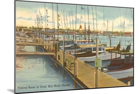 Dock, Key West, Florida--Mounted Art Print