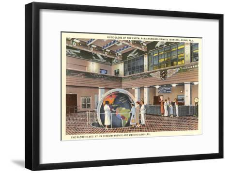 Globe at Airport, Miami, Florida--Framed Art Print