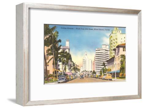 Collins Avenue, Miami Beach, Florida--Framed Art Print