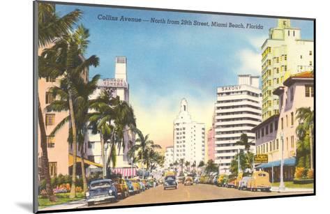 Collins Avenue, Miami Beach, Florida--Mounted Art Print