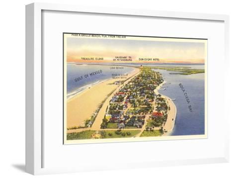 Pass-a-Grille Beach, Florida--Framed Art Print