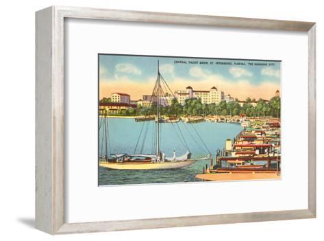 Yacht Basin, St. Petersburg, Florida--Framed Art Print