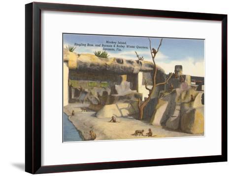Monkey Island, Circus Quarters, Sarasota, Florida--Framed Art Print