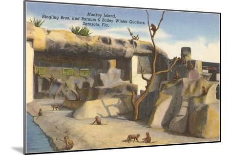 Monkey Island, Circus Quarters, Sarasota, Florida--Mounted Art Print