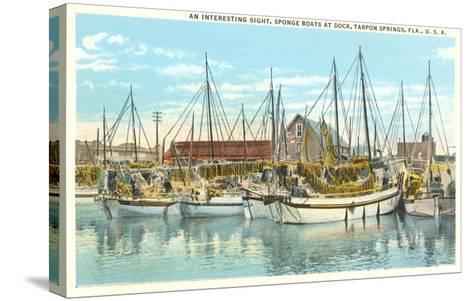 Sponge Boats, Tarpon Spring, Florida--Stretched Canvas Print