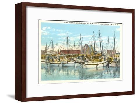 Sponge Boats, Tarpon Spring, Florida--Framed Art Print