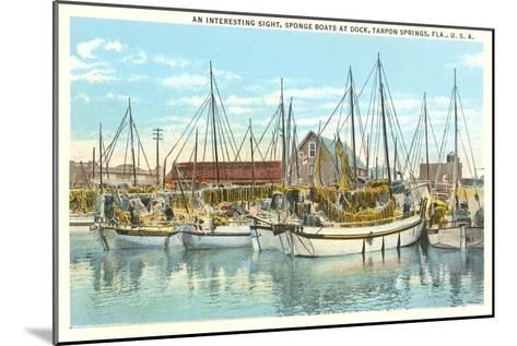 Sponge Boats, Tarpon Spring, Florida--Mounted Art Print